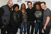 (EXCLUSIVE COVERAGE) Jonathan Jackson + Enation Album Release Party. L/R: Daniel Sweatt, Ann McCrary, Deboran McCrary (McCrary sisters), Jonathan Jackson, Regina McCrary (McCrary sisters) and Richard E. Jackson backstage at the Hard Rock Cafe Nashville on October 18, 2014 in Nashville, Tennessee.