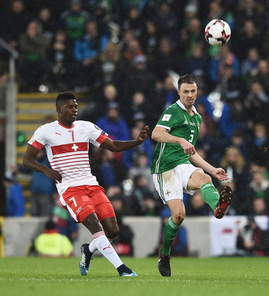 Jonny Evans Breel Embolo Photos Northern Ireland v Switzerland