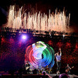 Jonny Buckland Coldplay Performs at the Rose Bowl