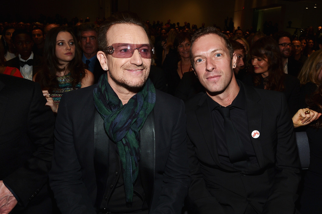 Photo of Chris Martin & his friend  Bono
