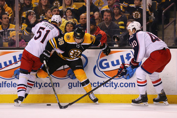 Jordan Caron Columbus Blue Jackets v Boston Bruins