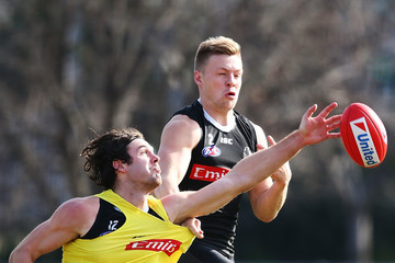 Jordan De Goey Collingwood Magpies Media Opportunity And Training Session