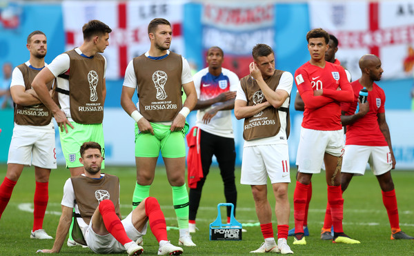 Belgium vs. England: 3rd Place Playoff - 2018 FIFA World Cup Russia [sports,team sport,ball game,team,football player,player,soccer,soccer player,international rules football,tournament,3rd place playoff - 2018 fifa world cup,defeat,match,russia 3rd place playoff,2018 fifa world cup,russia,england,belgium,saint petersburg stadium,players]