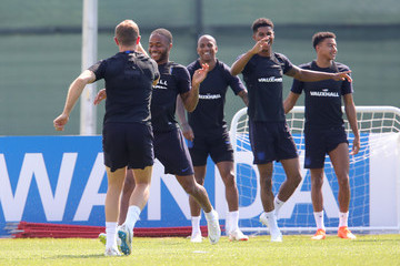 Jordan Henderson Raheem Sterling England Training Session - 2018 FIFA World Cup Russia