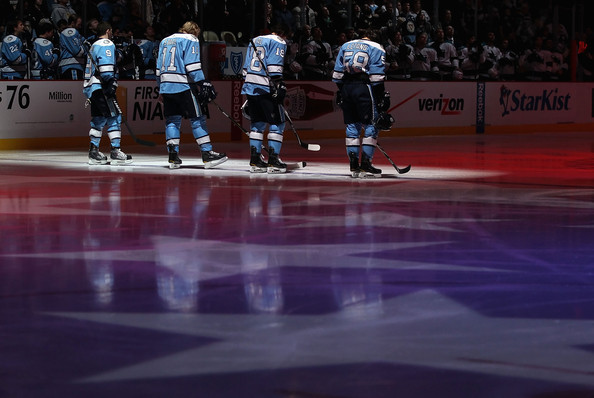 San Jose Sharks v Pittsburgh Penguins [national anthem,sports,ice hockey,college ice hockey,player,hockey,bandy,ice hockey position,ice rink,team sport,sports gear,jordan staal,pascal dupuis 9,kris letang,james neal,l-r,san jose sharks,pittsburgh penguins,nhl,game]