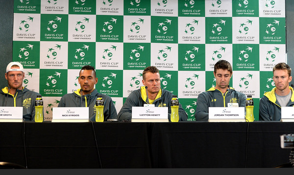 Australia v USA - Davis Cup World Group Quarterfinals: Press Conference & Practice Session