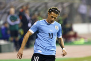 Diego Forlan of Uruguay in action during the FIFA 2014 World Cup Qualifier: Intercontinental Play-off First Leg between Jordan and Uruguay on November 13, 2013 in Amman, Jordan.