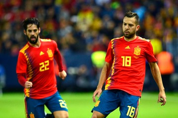 Jordi Alba Isco Spain v Costa Rica - International Friendly