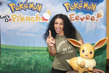 Jordin Sparks Pikachu And Eevee Embark on a Road Trip Across the U.S. To Demo New Pokémon Games