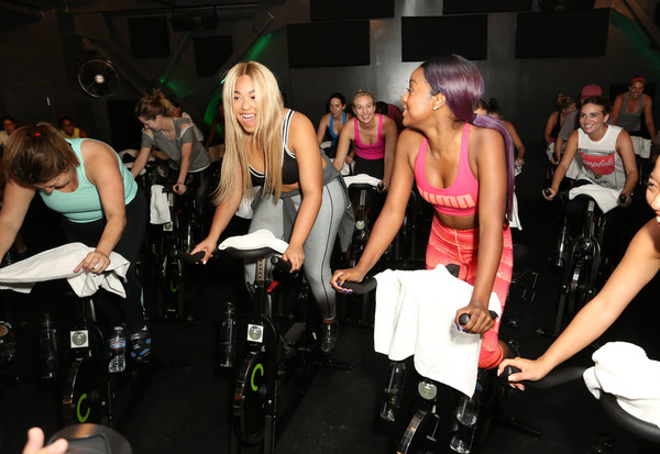 59a8b1317 Addition Elle and Jordyn Woods Celebrate Launch of NOLA by Addition Elle  Activewear Campaign at Cycle