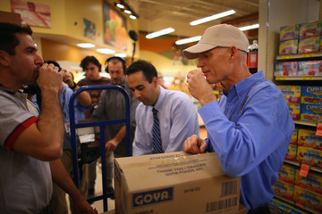 Jorge Rodriguez Governor Rick Scott Visits Goya Plant And Supermarket