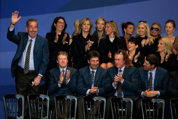 Jose-Maria Olazabal Sam Torrance 40th Ryder Cup Opening Ceremony