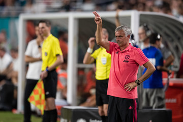 Jose Mourinho Manchester United vs. Real Madrid - International Champions Cup 2018