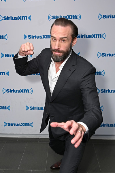 Celebrities Visit SiriusXM - March 11, 2019 [white-collar worker,suit,businessperson,facial hair,formal wear,event,business,siriusxm,siriusxm studios,new york city,celebrities,joseph fiennes]
