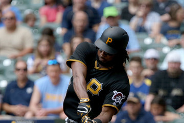 Josh Bell Pittsburgh Pirates v Milwaukee Brewers