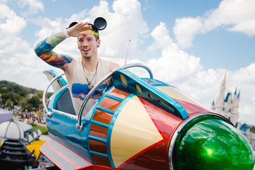 Josh Dun Twenty One Pilots Drummer Takes Flight Above Magic Kingdom Park