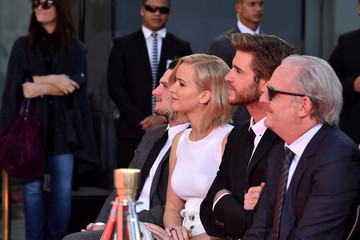Josh Hutcherson Francis Lawrence Stars from Lionsgate's 'The Hunger Games: Mockingjay - Part 2' Hand and Footprint Ceremony