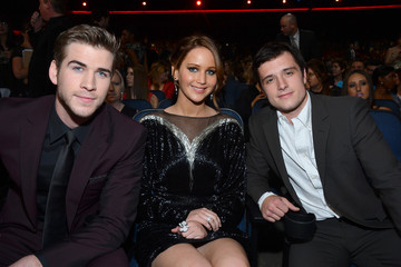 Josh Hutcherson Liam Hemsworth 39th Annual People's Choice Awards - Backstage And Audience