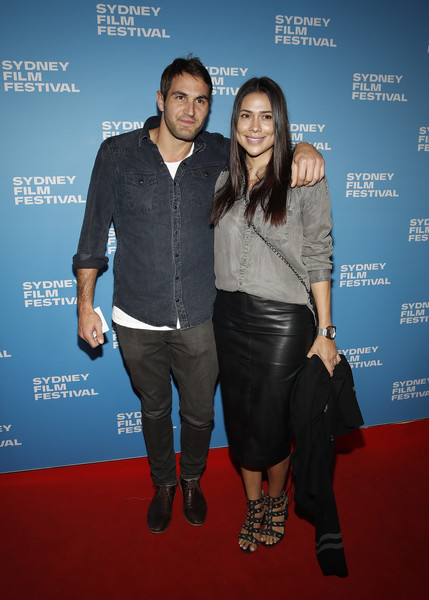 'The Final Quarter' World Premiere - Arrivals [the final quarter,premiere,carpet,event,fashion,red carpet,footwear,flooring,performance,arrivals,josh kennedy,ana calle,sydney,australia,sydney swans,final quarter world premiere,world premiere,sydney film festival]