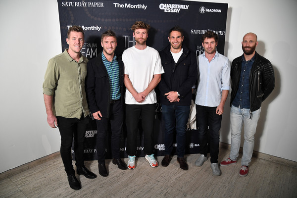'The Australian Dream' Sydney Gala Screening - Arrivals [social group,event,team,design,luke parker,nick smith,jarrad mcveigh,kieren jack,dane rampe,l-r,sydney,australian dream sydney gala screening - arrivals,team,gala screening]