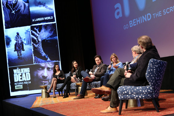 SCAD Presents aTVfest 2016 - 'The Walking Dead' [alanna masterson,christian serratos,tom luse,denise huth,josh mcdermitt,michael jackson chaney,michael satrazemis,cinematorgapher,the walking dead,event,convention,youth,academic conference,media,design,adaptation,performance,display device,conversation,scad presents atvfest]