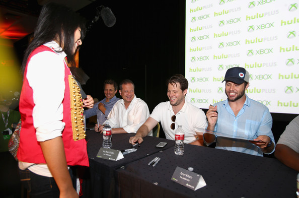 """The Awesomes"" Comic-Con Autograph Signing [the awesomes comic-con autograph signing,product,event,fun,leisure,party,team,guest,actors,executive producers,ike barinholtz,michael shoemaker,josh meyers,taran killam,l-r,manchester grand hyatt]"