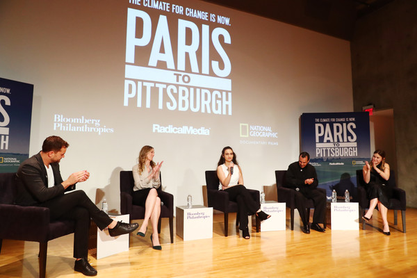 Bloomberg Philanthropies And RadicalMedia Host The Los Angeles Premiere Of 'Paris To Pittsburgh' [event,pianist,recital,talent show,performance,businessperson,brand,host,jamie margolin,lauren faber oconnor,producer,l-r,los angeles,paris to pittsburgh,radicalmedia,bloomberg philanthropies,premiere]