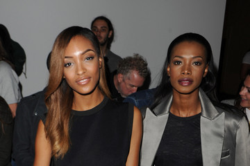 Jourdan Dunn Front Row: Day 1 -  London Collections: Men SS15