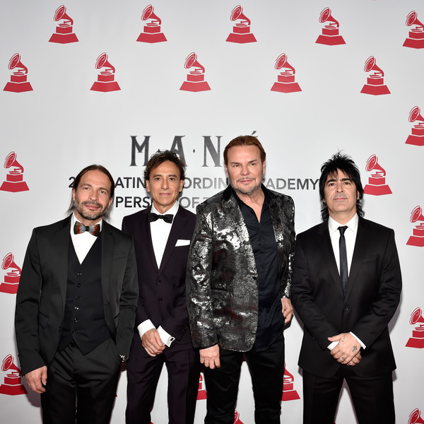 The 19th Annual Latin GRAMMY Awards  - Social [person of the year gala,suit,event,carpet,premiere,red carpet,tuxedo,formal wear,company,team,honorees,sergio vallin,alex gonzalez,juan calleros,fher olvera,l-r,mandalay bay events center,mana,latin grammy awards]