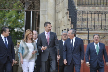 Juan Ignacio Zoido King Felipe VI of Spain Delivers the University Awards of the Royal Cavalry Armory of Seville