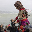 Jude Law 'Little Amal', Migrant Puppet Traversing Europe, Arrives In England
