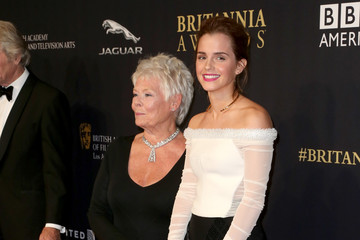 Judi Dench Emma Watson BAFTA Los Angeles Jaguar Britannia Awards Presented By BBC America And United Airlines - Arrivals