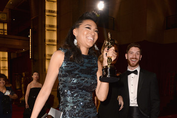 Judith Hill Stars Leave the Academy Awards