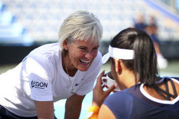 Judy Murray Heather Watson South Africa v Great Britain: Fed Cup Europe/Africa Group One - Day Two