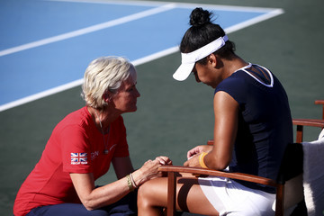 Judy Murray Heather Watson Fed Cup Europe/Africa Group One - Day Four