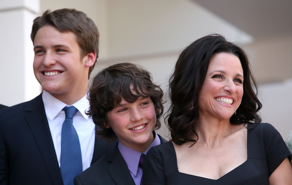 Photo of Julia Louis-Dreyfus & her Son  Henry Hall