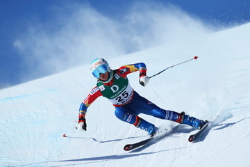 Julia Mancuso FIS World Ski Championships - Men's and Women's Downhill Training