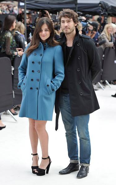 Burberry Spring Summer 2013 Womenswear Show - Arrivals [fashion,clothing,fashion show,fashion model,coat,overcoat,outerwear,trench coat,street fashion,event,arrivals,robert konjic,julia restoin roitfeld,england,london,kensington gardens,burberry spring,burberry spring summer 2013 womenswear show]
