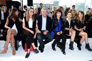 Julia Toledano Maxime Simoens  : Front Row - Paris Fashion Week Womenswear Spring/Summer 2015