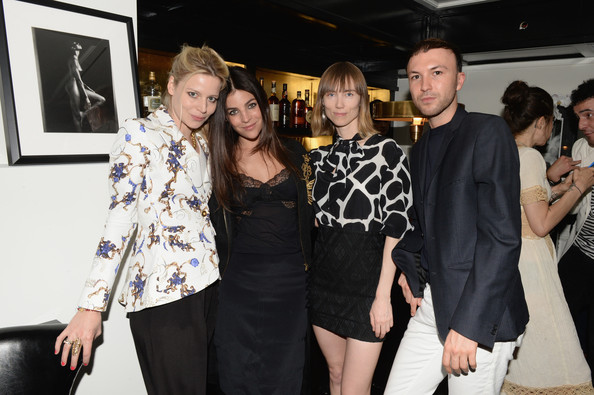 Guests at the Casadei Dinner in NYC [fashion,event,fashion design,little black dress,eyewear,premiere,black-and-white,style,art,julia restoin roitfeld celebrating resort,casadei dinner,julia restoin roitfield,casadei,tom van dorpe,anya ziourova,julia von boehm,l-r,resort 2014,dinner]