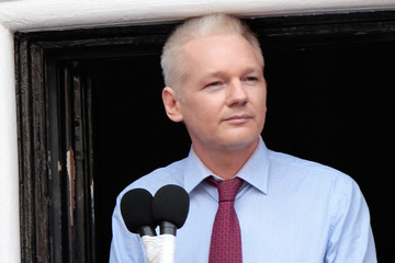 Julian Assange Wikileaks Founder Julian Assange Makes A Statement At The Ecuadorian Embassy
