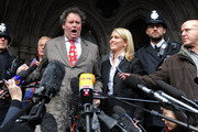 Mark Stephens (centre L), a lawyer for WikiLeaks founder Julian Assange, addresses the media outside of the High Court on December 16, 2010 London, England.  The founder of the WikiLeaks website, Julian Assange, was granted bail on Thursday by the High Court in London, which rejected an appeal against him being released even under stringent conditions.