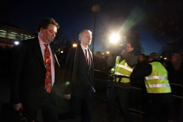Julian Assange Arrives At Court For His Extradition Hearing