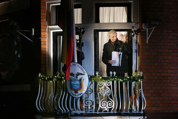 Julian Assange Wikileaks Founder Julian Assange Makes A Statement After Six Months Residing At The Ecuadorian Embassy