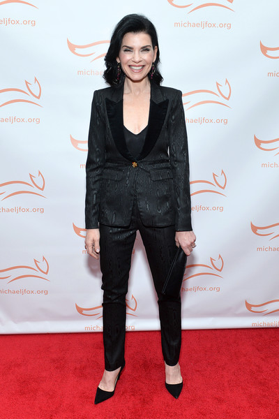 2019 A Funny Thing Happened On The Way To Cure Parkinson's - Arrivals [a funny thing happened on the way to cure parkinson,clothing,red carpet,carpet,suit,fashion,pantsuit,outerwear,flooring,formal wear,footwear,arrivals,julianna margulies,happened on the way to cure parkinson,new york city,the michael j. fox foundation]