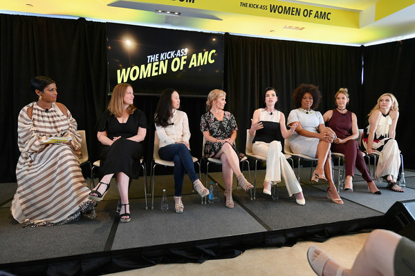 AMC Summit [event,fashion,talent show,fun,performance,team,competition,stage,amc summit,l-r,tamron hall,angela kang,melissa bernstein,jenna elfman,rhea seehorn,marti noxon,lorraine toussaint,julianna margulies]