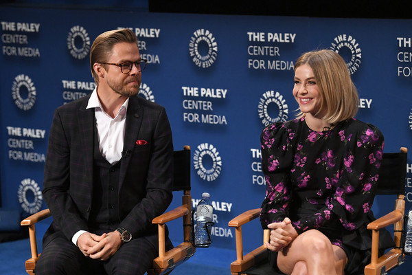 The Paley Center For Media Presents: An Evening With Derek Hough And Julianne Hough - Inside [event,news conference,sky,spokesperson,julianne hough,derek hough,julianne hough - inside,l-r,the paley center for media,california,beverly hills,paley center for media presents: an evening with derek hough]