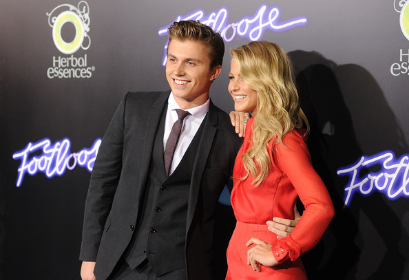 Julianne Hough Actors Kenny Wormald (L) and Julianne Hough arrive at Paramount Pictures' premiere of 'Footloose' held at the Regency Village Theatre on October 3, 2011 in Los Angeles, California.