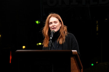 Julianne Moore We Stand United NYC Rally
