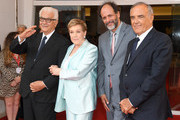 President of the festival Paolo Baratta, Julie Andrews, Luca Guadagnino and director of the festival Alberto Barbera  attends a celebration as Julie Andrews is awarded the Golden Lion for Lifetime Achievement during the 76th Venice Film Festival at Sala Grande on September 02, 2019 in Venice, Italy.